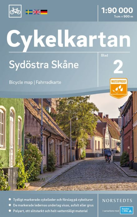 Sweden Cycling Map 02 - Skane South East